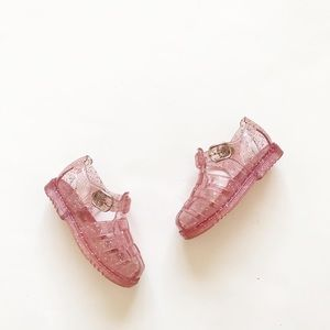 Babygap pink glitter jelly sandals EUC size 5